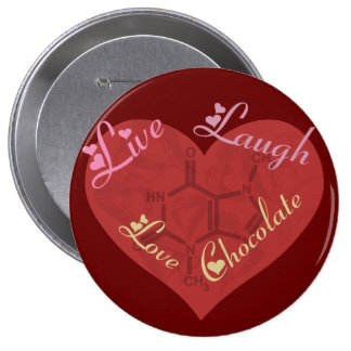 Funny Love Chocolate Button
