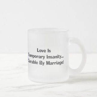 Funny Love Is T-shirts Gifts Frosted Glass Mug