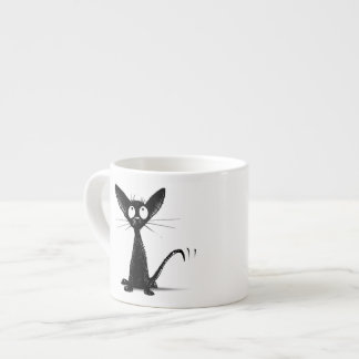 Funny Lucky Black Cat Espresso Mug