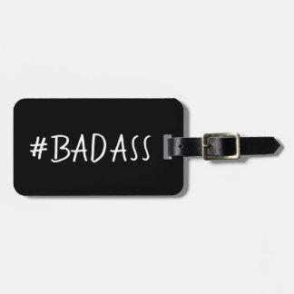 FUNNY  LUGGAGE/BAG TAG_#BADASS  DIY LUGGAGE TAG