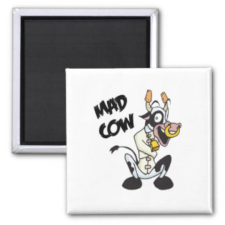 funny mad cow magnet