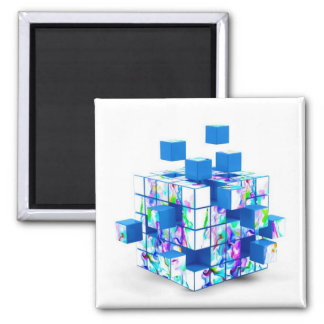 funny magic cube fridge magnet