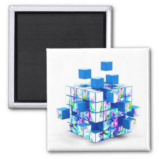 funny magic cube square magnet