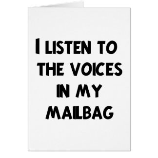 Funny Mail Carrier T-shirts and Gifts Greeting Card