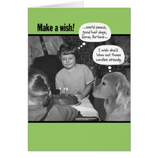 Funny Make a Wish Vintage 50's Photo Card