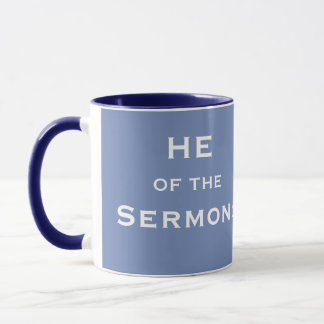Funny Male Clergy Minister Sermon Joke Nickname Mug