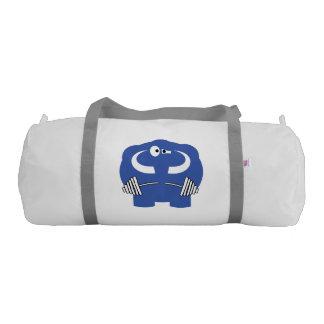 Funny mammoth life. gym bag