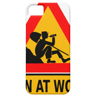 Funny Man at work sign Barely There iPhone 5 Case
