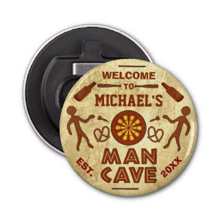 Funny Man Cave with Beer Sports TV | Custom Name