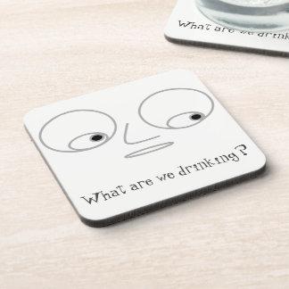 Funny Man's Face Design Coasters