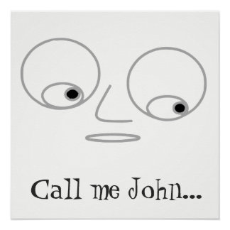 Funny Man's Face Design Personalized Poster