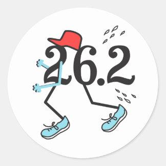 Funny Marathon 26.2 © Gift for Runner Classic Round Sticker