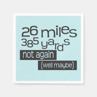 Funny Marathon 26 miles 385 yards © - 26.2 Runner Disposable Serviette
