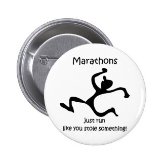 Funny marathon pinback buttons