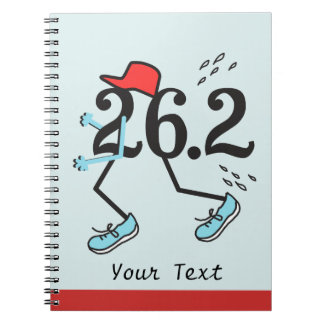 Funny Marathon Runner 26.2 - Gifts for Runners Notebook