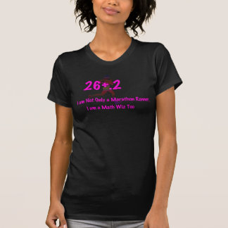 Funny marathon t-shirt design, I am a math wiz too