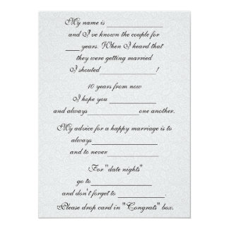 Funny Marriage Advice for Bride & Groom 14 Cm X 19 Cm Invitation Card