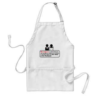 Funny Marriage Apron