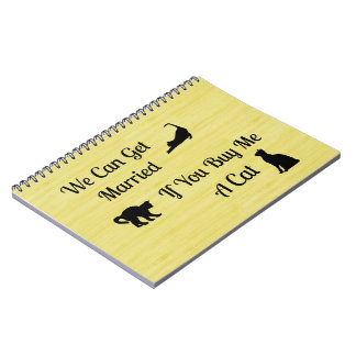 Funny Married Cat Spiral Notebook