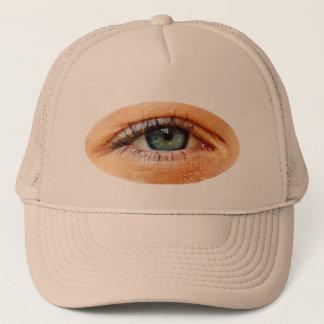 Funny Martian Third Eye Peeking Trucker Hat