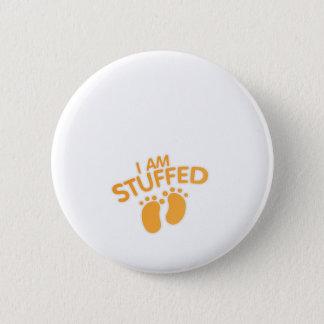 funny maternity for women thanksgiving IAm Stuffed 6 Cm Round Badge