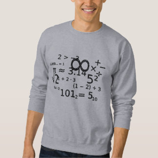 funny math algebra wiz back to school design sweatshirt