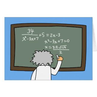 Funny Math Birthday Card Maths Themed Cartoon