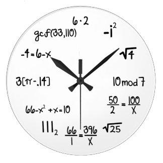 Funny Math Genius Geek Large Clock
