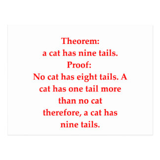 funny math joke post cards
