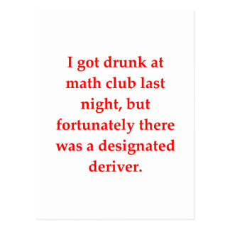 funny math joke postcards
