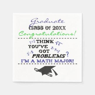 Funny Math Major Graduation Custom Paper Napkins