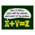 Funny Math Problem Posters