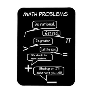 Funny Math Problems Rectangular Photo Magnet