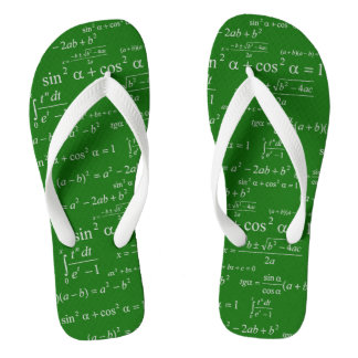 Funny Mathematics Equations Chalkboard Math Geeky Thongs
