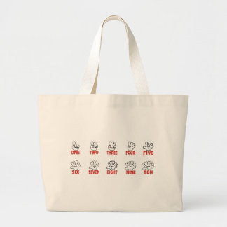 Funny maths: Counting on hands and fingers Canvas Bag