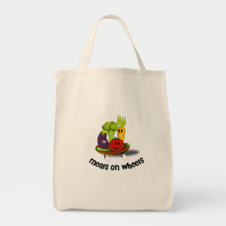 Funny Meals on Wheels Grocery Tote Bag