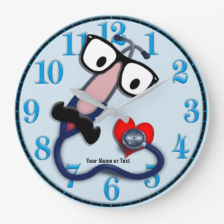 Funny Medical Clock Changeable Background Color