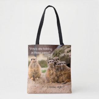 Funny Meerkat Photo Meme Tote Bag