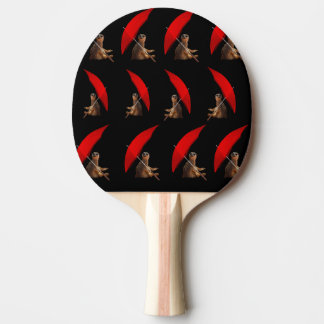 Funny Meerkat Under Umbrella Pattern, Ping Pong Paddle