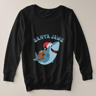 Funny Mele Kalikimaka Santa Jaws Christmas Shirt