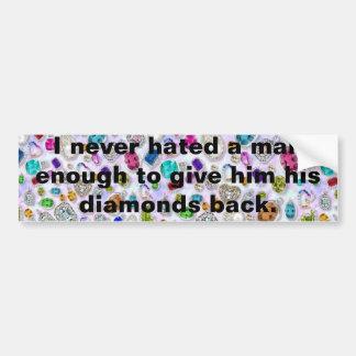 Funny Men Quote Bumper Sticker
