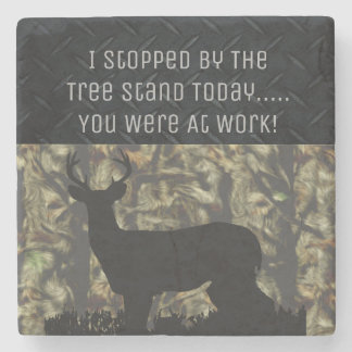 Funny Men's Deer Hunting Camo Coaster