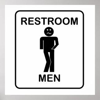 Funny Men's Restroom Sign