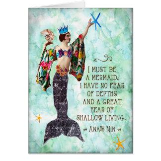 funny mermaid quote notecard anais nin