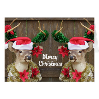 Funny Merry Christmas Buck Whitetail Deer Card