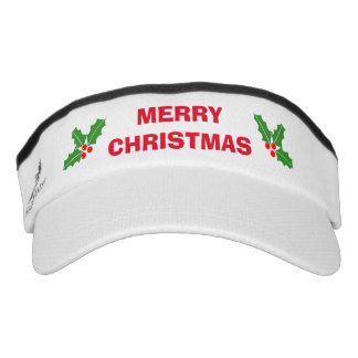 Funny Merry Christmas in July sun visor cap hat