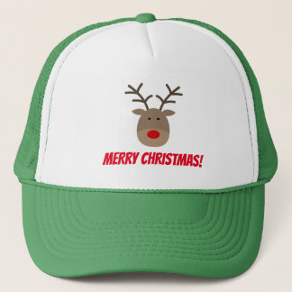 Funny Merry Christmas party hat with cute reindeer