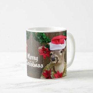 Funny Merry Christmas Whitetail Deer Buck Coffee Mug