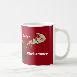 Funny Merry ChristMoose Holiday Mug