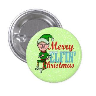 Funny Merry Elfin Christmas Bah Humbug 3 Cm Round Badge
